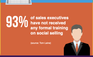 how many businesses dont have any form of training on social selling